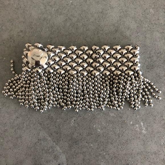 0a0f8c701b8 Sergio Gutierrez Liquid Metal Silver Mesh Bracelet.  M_5d263b05b3e9175faf7dc8af